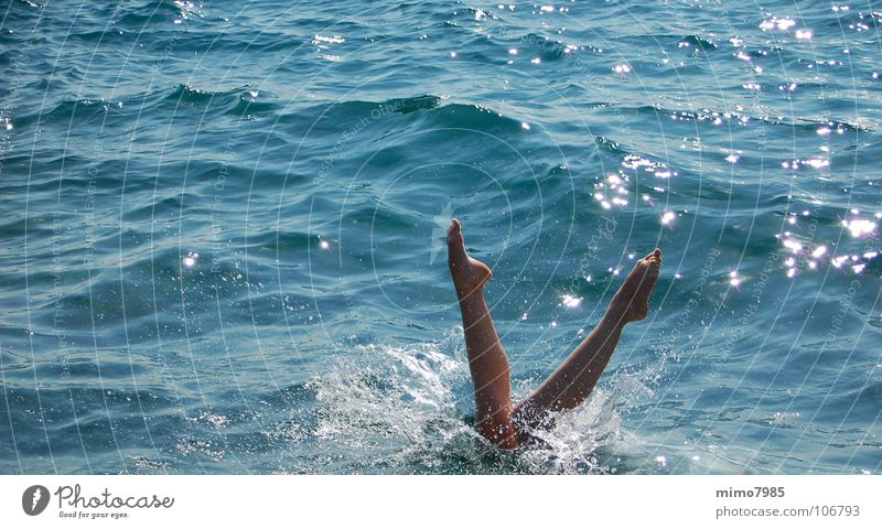 Woman Water Beautiful Ocean Blue Summer Beach Vacation & Travel Sports Jump Feet Lake Warmth Legs Bright Weather
