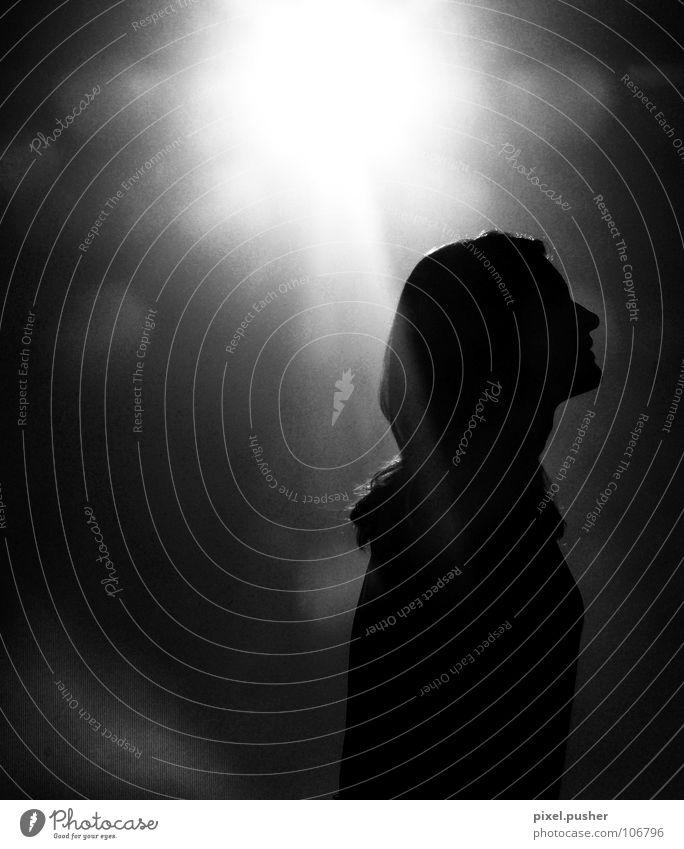 SunWoman Back-light Black White Black & white photo