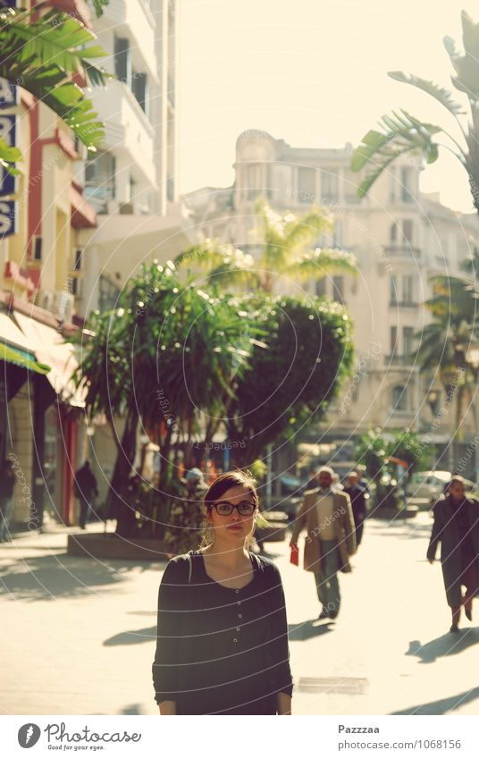 Casablanca Lifestyle Elegant Style Vacation & Travel Tourism Sightseeing Young woman Youth (Young adults) 1 Human being 18 - 30 years Adults Morocco Town