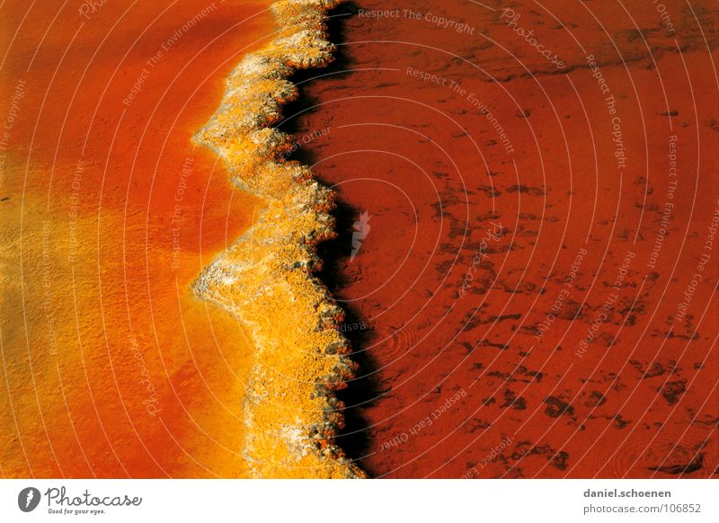 yellow-orange Yellow Red Abstract Background picture Hot Source Bacterium Geyser New Zealand Vulcanism Geology Australia Water Orange Multicoloured Sediment