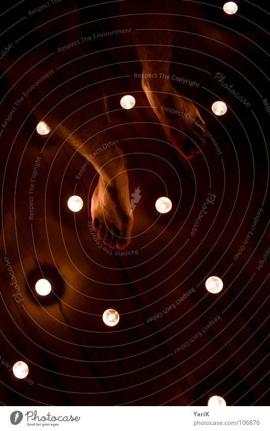 Red Black Dark Warmth Dream Bright Feet Orange Going Stars Blaze Stand Floor covering Romance Candle Flame
