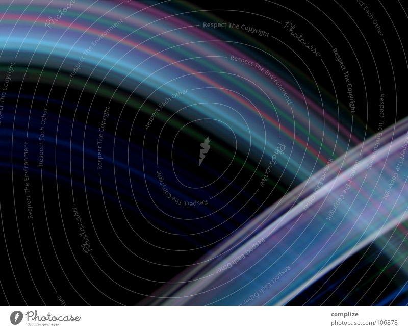 lightwaves 01 Stripe Light Black Violet Green Blur Long exposure Exposure Play of colours Disco Music Laser Swing Circle Geometry Tracks Tracer path