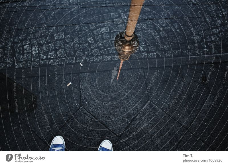 City Water Lanes & trails Berlin Footwear Tower Capital city Downtown Puddle Berlin TV Tower