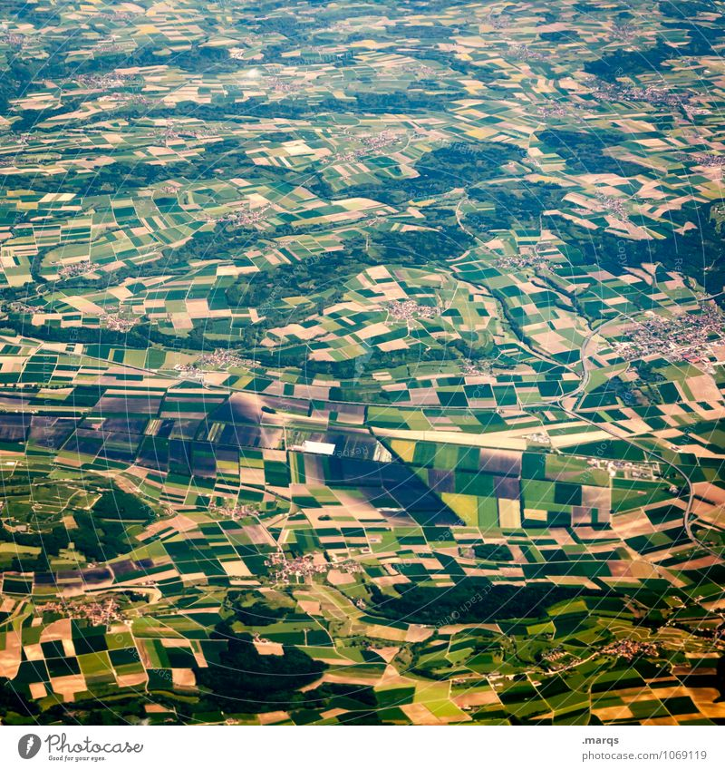 agriculture Vacation & Travel Trip Agriculture Forestry Nature Landscape Field Many Perspective Colour photo Aerial photograph Pattern Structures and shapes