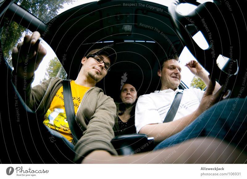 Joy Car Room Transport Motor vehicle Driving Lawn Mobility Motoring Human being Fisheye Opportunity In transit Passenger Driver