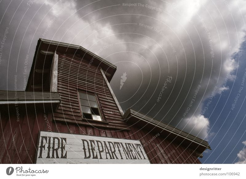 Old House (Residential Structure) Clouds Blaze Weather Dangerous Threat Gale Historic Burn Hero Rescue Fire department Western Erase