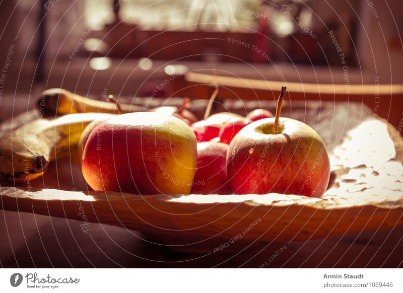Red Yellow Natural Healthy Moody Food Fruit Design Authentic Fresh Nutrition Simple Apple Fragrance Still Life Bowl
