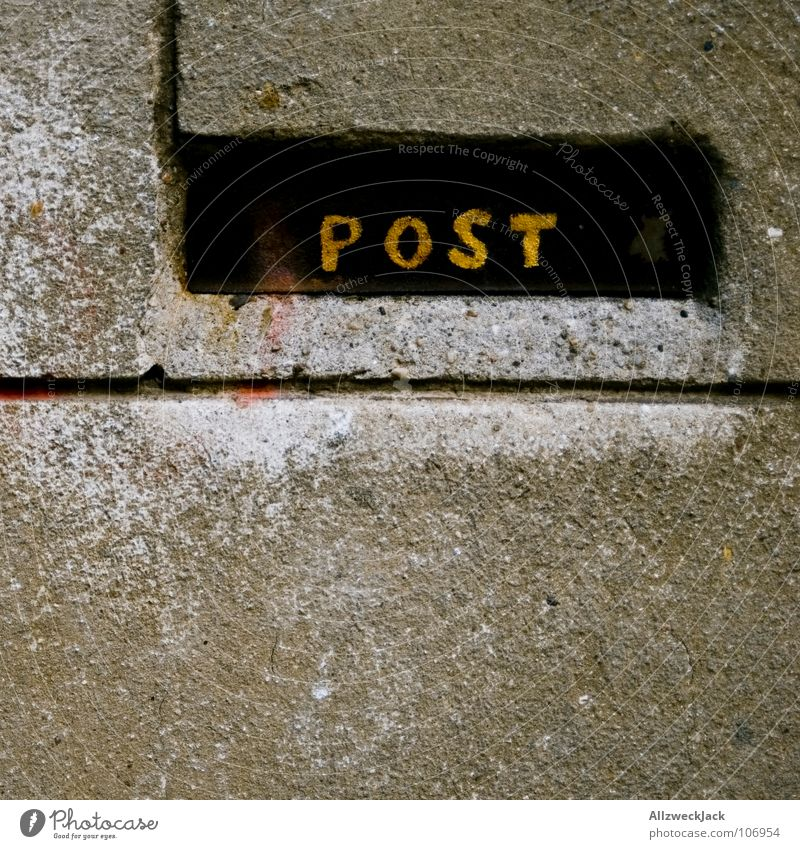 Wall (building) Wall (barrier) Communicate Newspaper Write Services Box Email Mail Plaster Mailbox Postman Interject Zip code