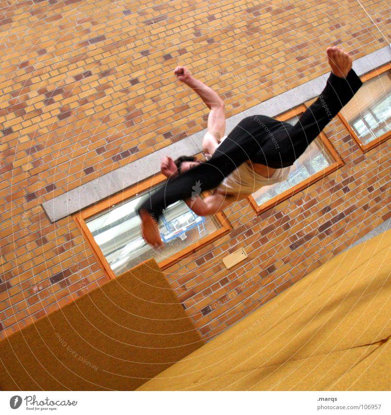 Human being Joy Sports Jump Movement Power Masculine Force Speed Leisure and hobbies Dynamics Sports Training Effort Flexible Gymnastics