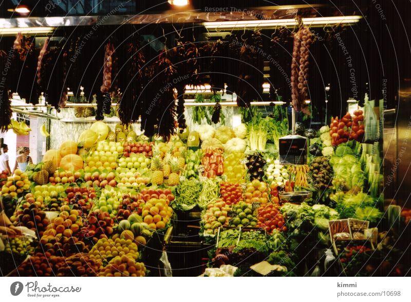 La Boqueria Fruit- or Vegetable stall Barcelona Europe Markets