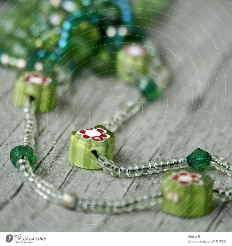 pearl flowers Wood Derelict Bracelet Pearl necklace Handicraft Broken Multicoloured Craft (trade) Green Printing Flower Flowery pattern Pattern Difference