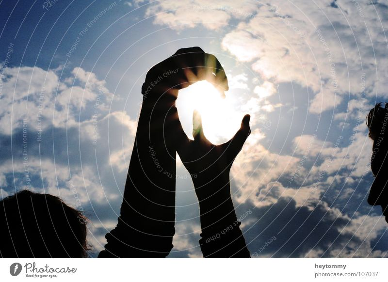 Catch the sun Summer Clouds Shadow play Visual spectacle Dark Emotions Grand Own Possessions Deities Hand Tall Eternity Celestial bodies and the universe Sun