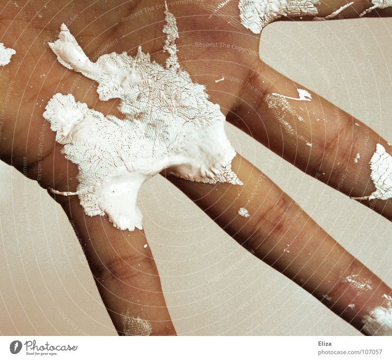 Hand White Colour Wall (building) Brown Work and employment Room Flat (apartment) Dirty Skin Drops of water Fingers Point Soft Painting (action, work) Dry