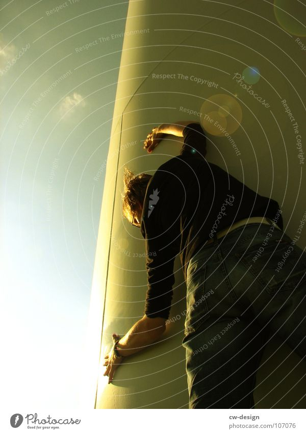Human being Posture To hold on Hide Partially visible Section of image Lean Lens flare