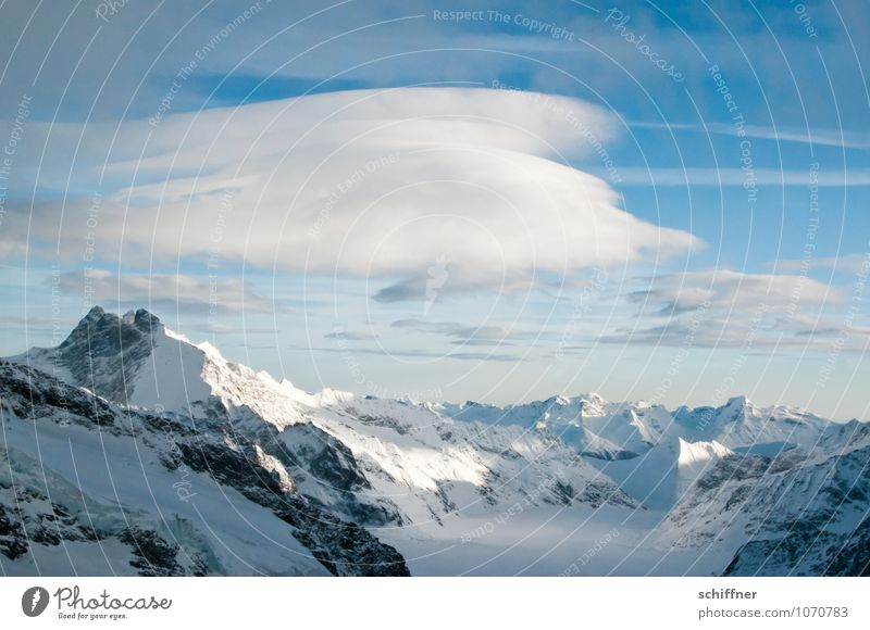 giant cloud sheep Environment Nature Landscape Winter Climate Climate change Weather Beautiful weather Ice Frost Snow Rock Alps Mountain Peak Snowcapped peak