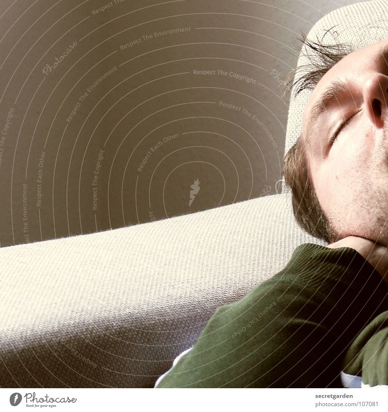 Human being Man Green Face Calm Relaxation Wall (building) Gray Graffiti Room Arm Clothing Sleep Lie Sofa Living room