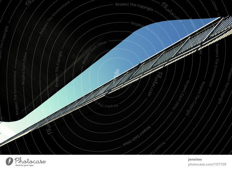 Sky Street Line Concrete Europe Bridge Turquoise Diagonal Handrail Construction Swing Concave