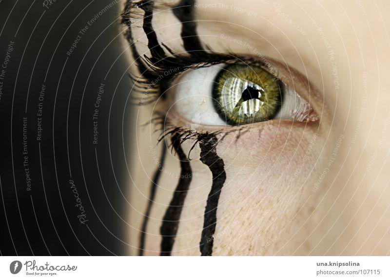 Woman Green Black Eyes Lamp Line 3 Stripe Striped Eyelash Eyebrow Zebra Pupil Iris