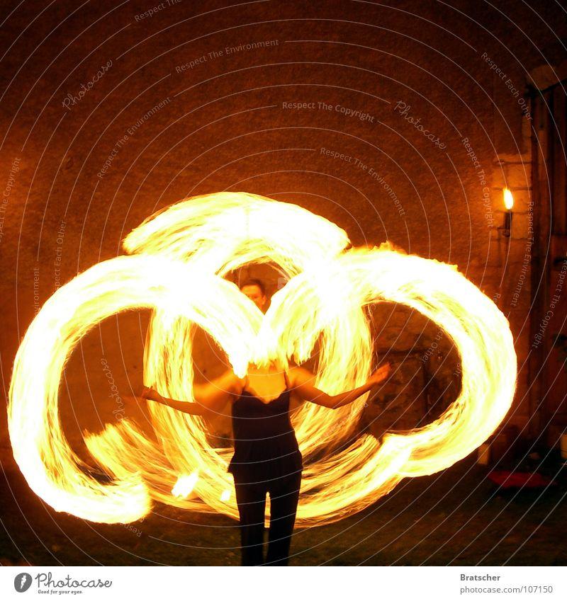 Circle. Magic Headless Art Torch Medieval times Entertainment Fire Artist Performance art Pool of light Tracer path Light track Illuminate Light streak Juggle