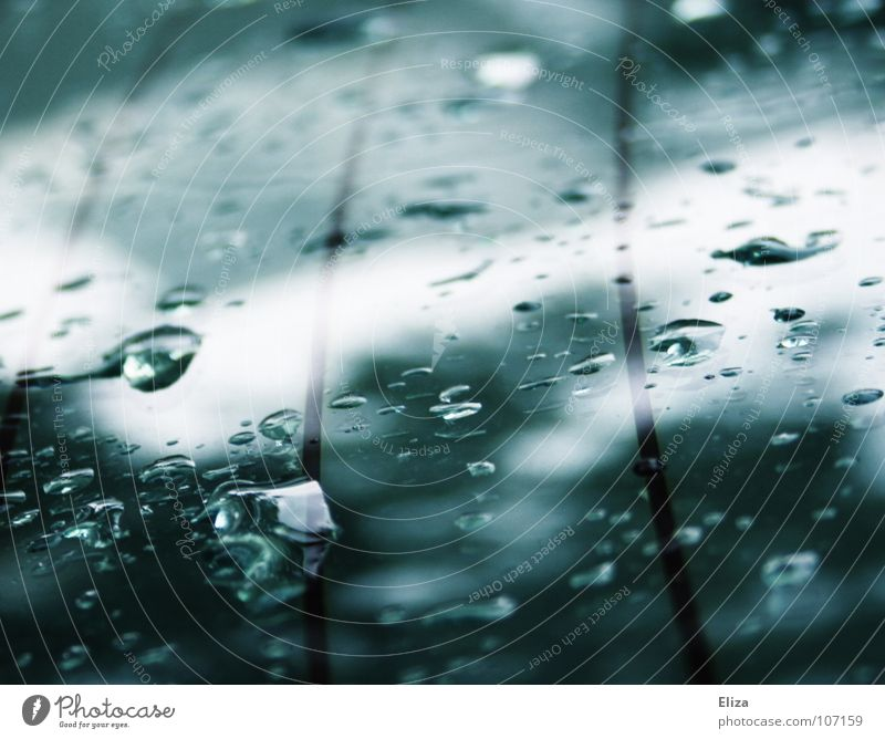 Water Dark Autumn Line Rain Car Drops of water Wet Clarity Delicate Turquoise Window pane Thunder and lightning Cyan Rear Window
