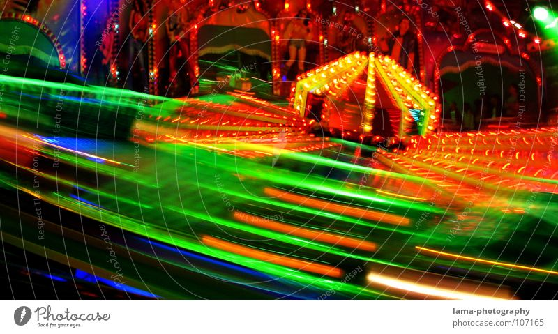 speed Fairs & Carnivals Oktoberfest Spring celebration Attraction Carousel Light Electric bulb Neon light Multicoloured Glittering Theme-park rides Bumper car