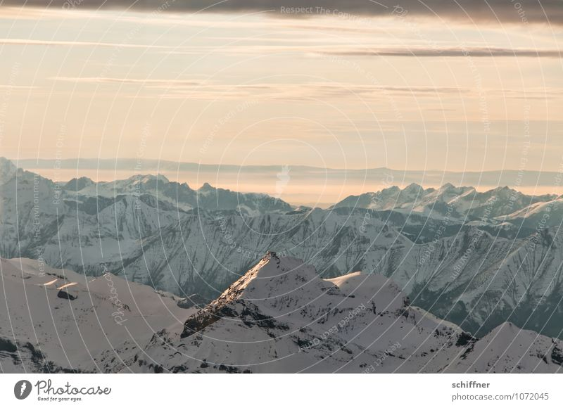 Washed with Perwoll Environment Nature Landscape Clouds Climate Climate change Ice Frost Snow Rock Alps Mountain Peak Snowcapped peak Glacier Cold