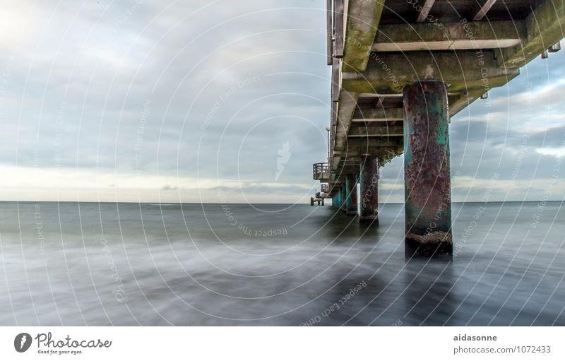 Sky Nature Water Landscape Clouds Winter Far-off places Bridge Baltic Sea Tourist Attraction