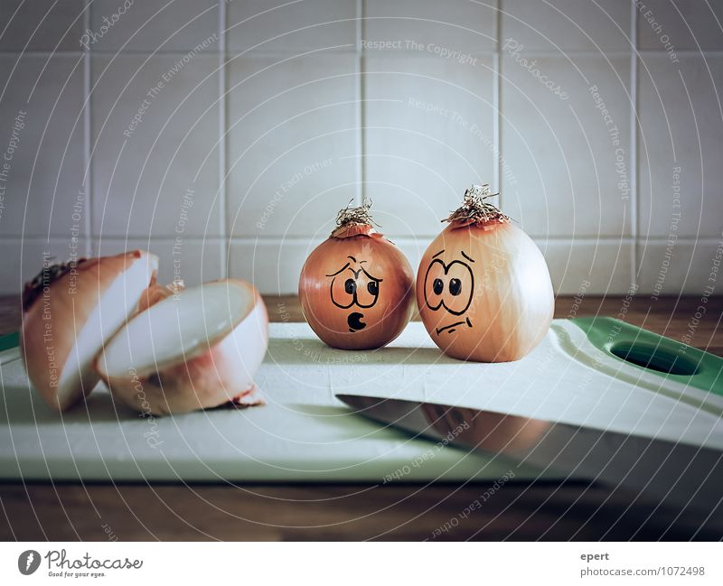 A decisive experience Vegetable Onion Knives Comic Observe Advice Communicate Threat Small Funny Surprise Concern Horror Nerviness Perturbed Bizarre Expectation