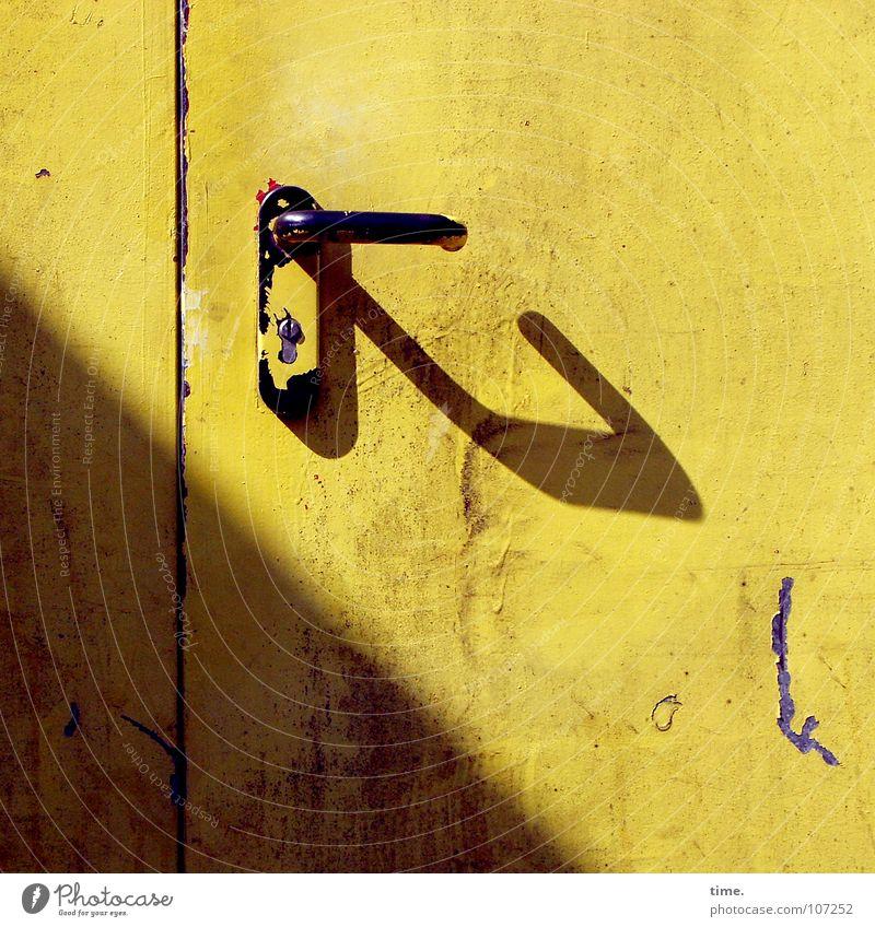 Sun Yellow Colour Warmth Metal Door Closed Decoration Physics Castle Gate Services Craft (trade) Diagonal Door handle Backyard