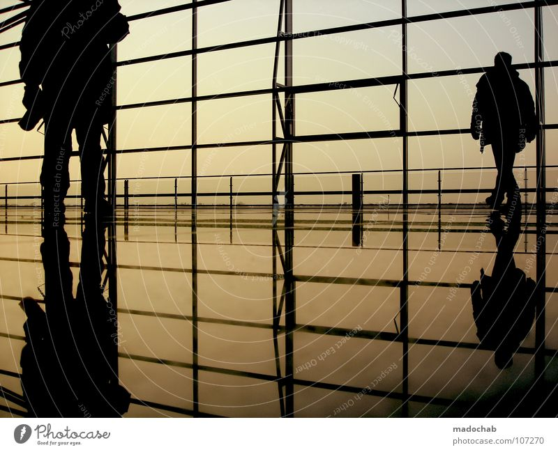 Human being Sky Man Vacation & Travel Relaxation Wall (building) Movement Glass Going Walking Wait Flying Empty Stand Lifestyle Floor covering