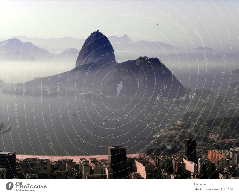 The Sugar Loaf Brazil Rio de Janeiro Peninsula Summer South America Vacation & Travel Fog Landmark Monument Mountain Urca Island Harbour Water Coast