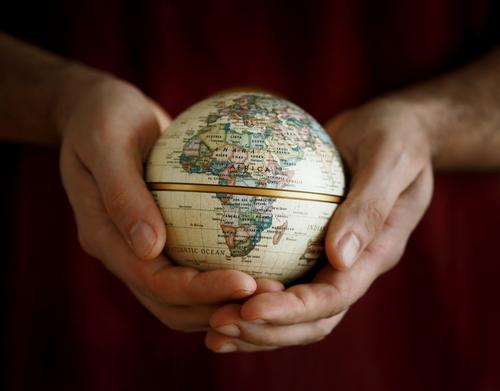 Human being Nature Vacation & Travel Hand Environment Travel photography Emotions Moody Earth Climate Sign Round Protection Peace Real estate