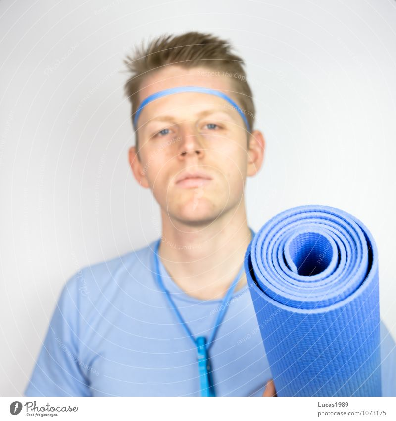 Colour study - Fitness Sports Sports Training Yoga yoga mat Fitness centre sleeping mat Human being Masculine Young man Youth (Young adults) Man Adults 1