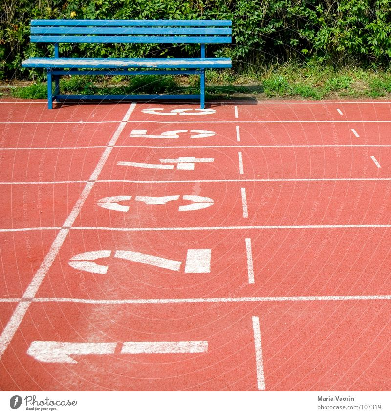 Relaxation Sports Playing Walking Beginning Success Break Target Digits and numbers Bench Row Audience Sporting event Doomed Lose Hedge