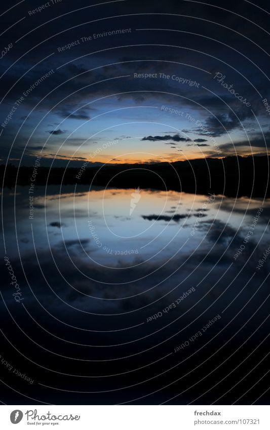 Sky Blue Black Clouds Dark Orange Field Threat Switzerland Fantastic Mirror Hill Mystic Dusk Fairy tale Cyan
