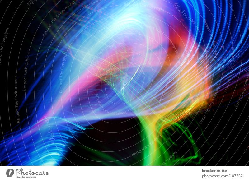 Green Blue Red Colour Lamp Movement Line Pink Fog Stripe Swing