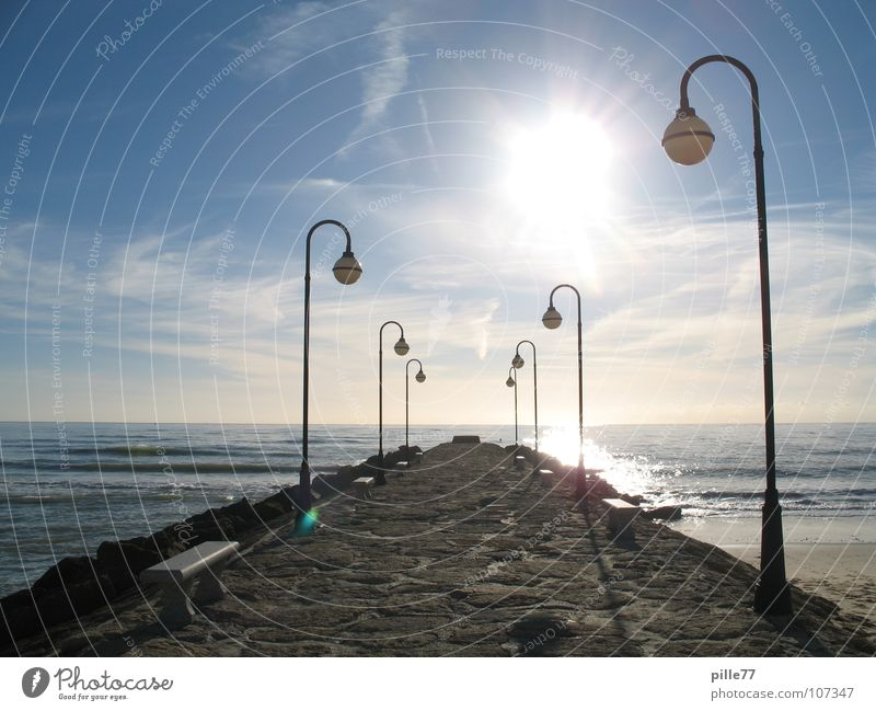Light and the sea Ocean Lake Spain Andalucia Lamp Vacation & Travel Clouds Lantern Water Coast
