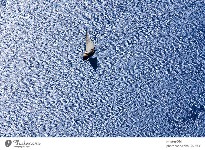 Human being Man White Ocean Blue Summer Vacation & Travel Calm Loneliness Far-off places Dark Relaxation Lanes & trails Lake Air Watercraft