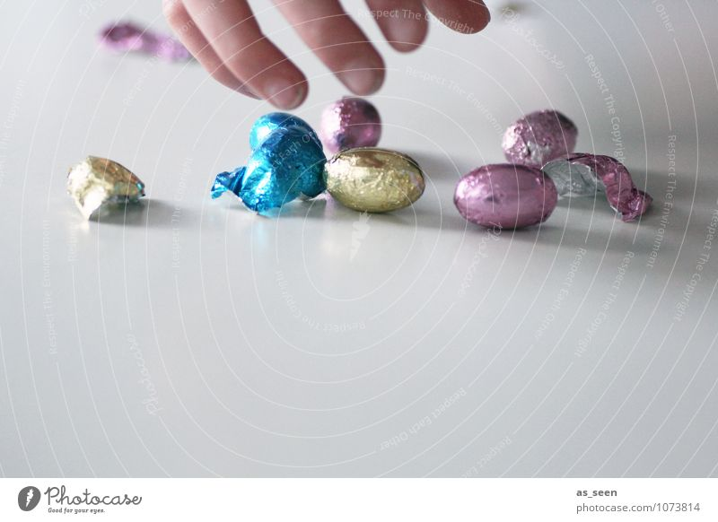 You got me! Food Candy Chocolate Chocolate easter rabbit chocolate eggs Nutrition Eating Diet Healthy Feasts & Celebrations Easter Parenting Child Life Hand