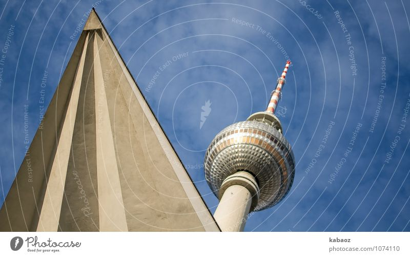 jagged television tower Berlin TV Tower Downtown Berlin Germany Europe Town Capital city House (Residential Structure) Architecture Spire Tourist Attraction