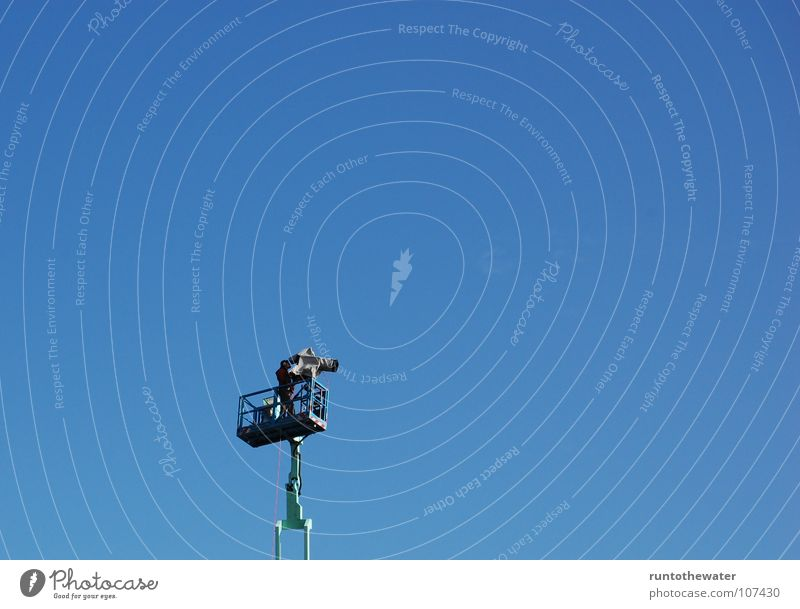 Sky Blue Joy Loneliness Above Together Large Uniqueness Observe Camera Television Information Under Event Live Communication