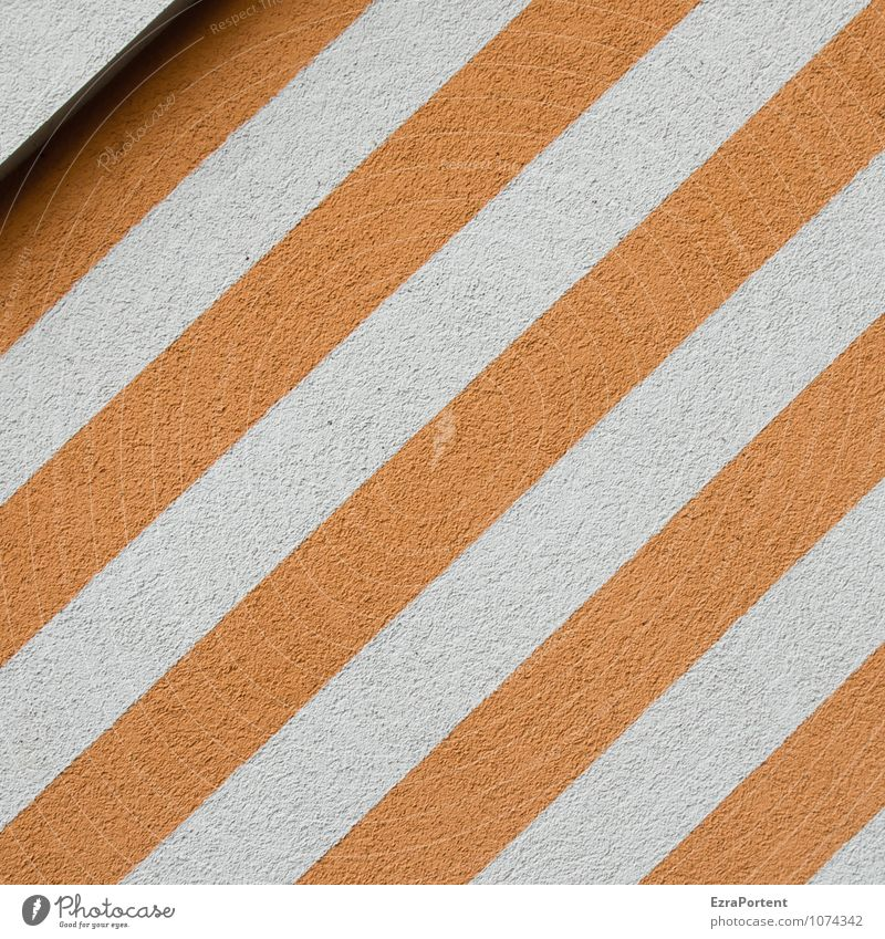 / House (Residential Structure) Wall (barrier) Wall (building) Facade Line Stripe Esthetic Hip & trendy Orange White Plaster Corner Shadow Design Style
