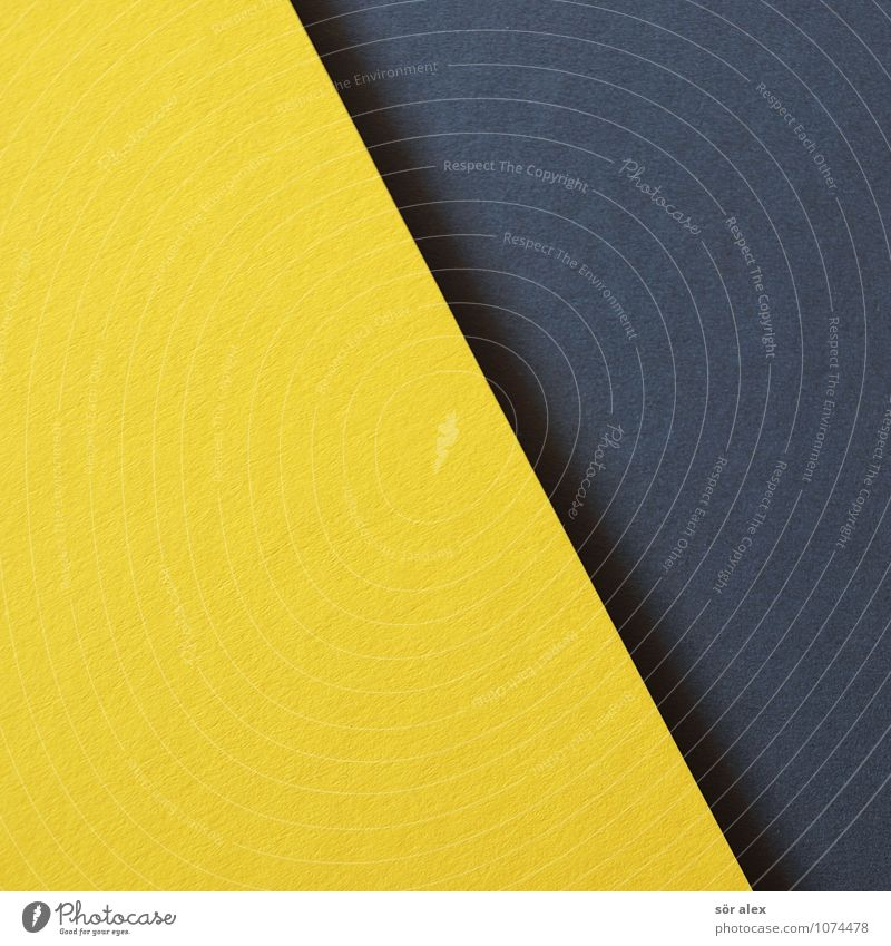 [yellow\black] Cardboard Yellow Gray Black Background picture Neutral Background Graphic Illustration Handicraft Colour photo Interior shot Deserted