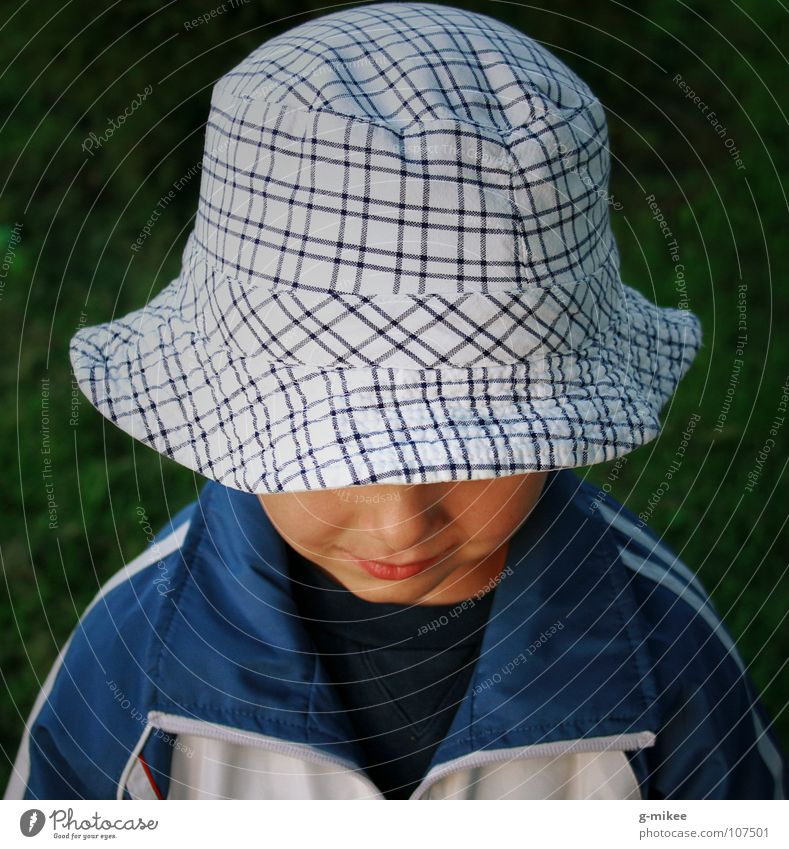Child Face Boy (child) Mysterious Hat Hide Grinning Timidity Invisible