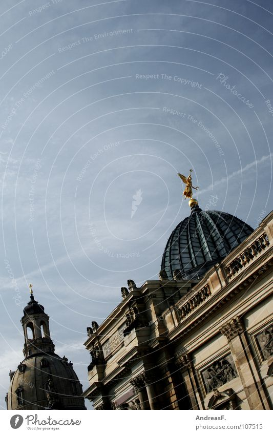 Old Religion and faith Art Tourism Culture Dresden Statue Historic Museum Saxony Old town Domed roof World heritage Frauenkirche Glass dome