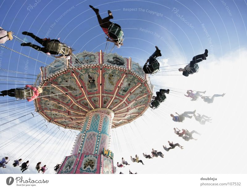 all around Oktoberfest Round Fairs & Carnivals Showman Theme-park rides Leisure and hobbies Autumn Peoples Traditional costume Costume Munich Theresienwiese