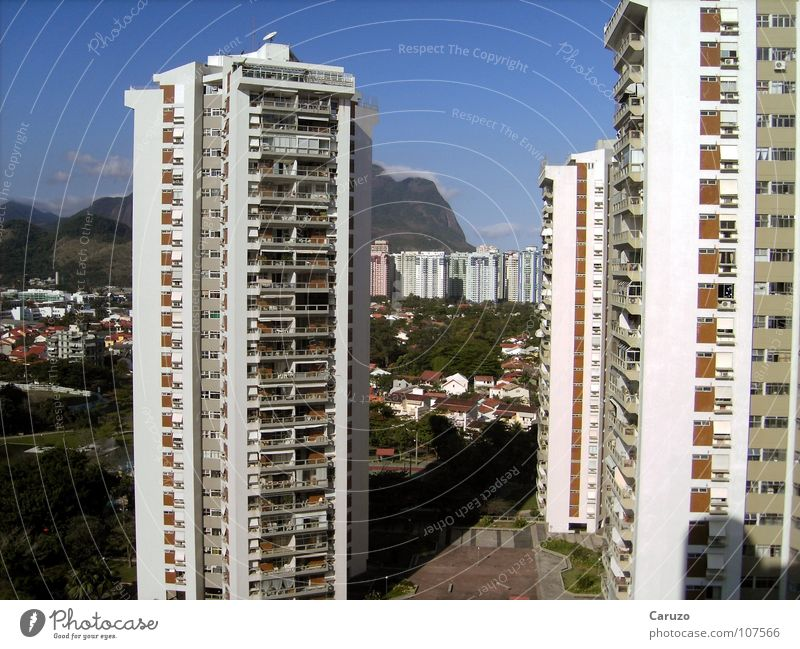 Summer Beach Vacation & Travel Far-off places Building Tall Tourism Hotel Brazil Rio de Janeiro South America