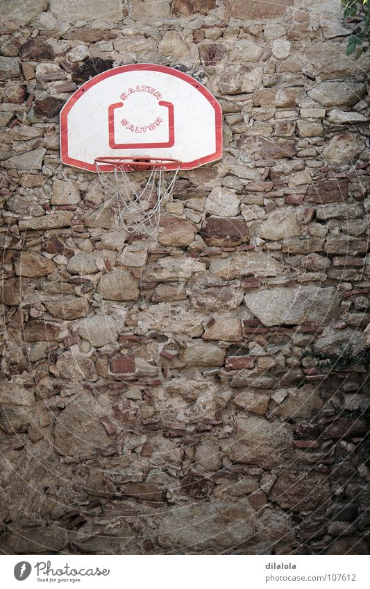 canasta Farm worker Wall (building) Brown Vertical Spain Summer Sports Playing Derelict Basketball stone peasant town emptiness exiled stoned Empty