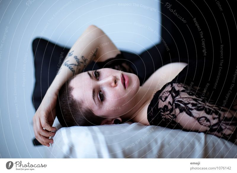 Human being Youth (Young adults) Beautiful Young woman 18 - 30 years Adults Feminine Lie Androgynous