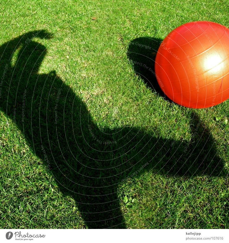 Child Sun Red Playing Dream Lie Earth Soccer Lawn Past Driving Ball Sphere Surrealism God Planet